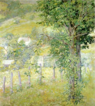 Woods Painting - Hillside in Summer impressionism landscape Robert Reid woods forest