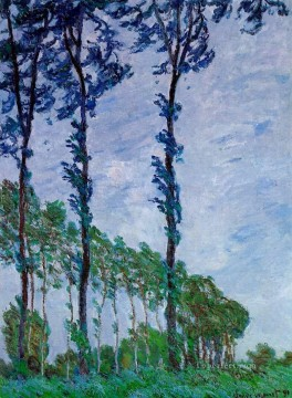 Woods Painting - Poplars Wind Effect Claude Monet woods forest
