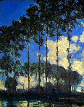 Woods Painting - Poplars on the Banks of the Epte Claude Monet woods forest