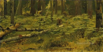 Forest clearing classical landscape Ivan Ivanovich trees Oil Paintings