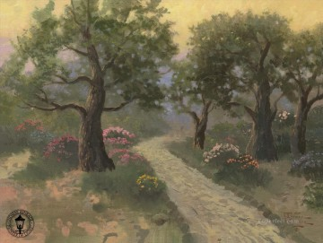 Woods Painting - Garden of Gethsemane Thomas Kinkade woods forest