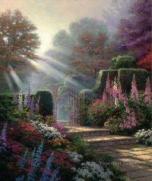 Woods Painting - Garden of Grace Thomas Kinkade woods forest