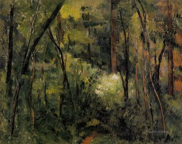 Woods Painting - In the Woods 2 Paul Cezanne