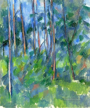 Woods Painting - In the Woods Paul Cezanne