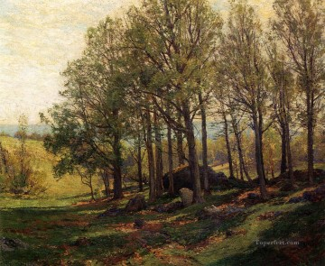 Woods Painting - Maples in Spring scenery Hugh Bolton Jones woods forest