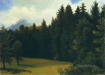 Woods Painting - Mountain Resort Albert Bierstadt woods forest