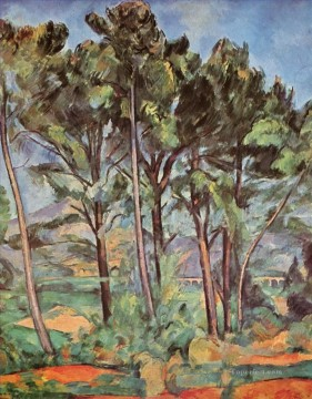 Pine and Aqueduct Paul Cezanne woods forest Oil Paintings