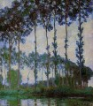 Poplars on the Banks of the River Epte at Dusk Claude Monet woods forest