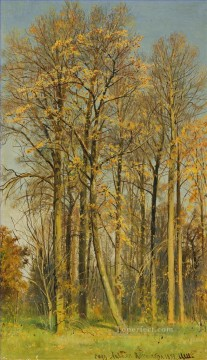 row - ROWAN TREES IN AUTUMN classical landscape Ivan Ivanovich woods
