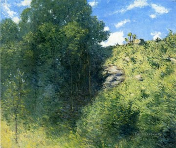 Ravine near Branchville impressionist landscape Julian Alden Weir woods forest Oil Paintings