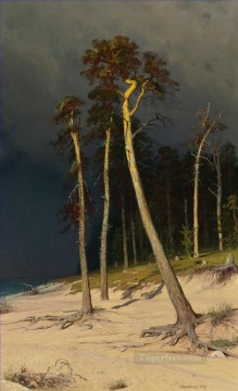 SANDY COASTLINE classical landscape Ivan Ivanovich trees Oil Paintings