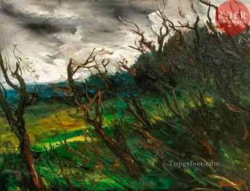 Stormy landscape Maurice de Vlaminck woods trees Oil Paintings