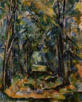 Woods Painting - The Alley at Chantilly 1888 Paul Cezanne woods forest
