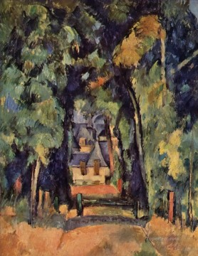 The Alley at Chantilly 2 Paul Cezanne woods forest Oil Paintings