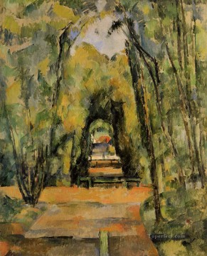 Woods Painting - The Alley at Chantilly Paul Cezanne woods forest