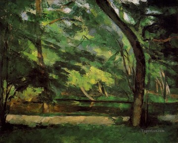 Woods Painting - The Etang des Soeurs at Osny Paul Cezanne woods forest
