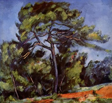 Woods Painting - The Great Pine Paul Cezanne woods forest