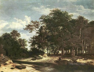 Woods Painting - The Large Forest landscape Jacob Isaakszoon van Ruisdael