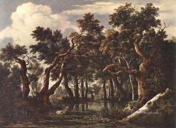 Woods Painting - The Marsh In A Forest landscape Jacob Isaakszoon van Ruisdael