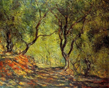 Woods Painting - The Olive Tree Wood in the Moreno Garden Claude Monet woods forest