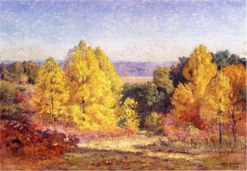 Woods Painting - The Poplars Impressionist Indiana landscapes Theodore Clement Steele woods forest