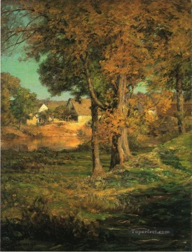 indiana art - Thornberrys Pasture Brooklyn Indiana landscape John Ottis Adams woods forest