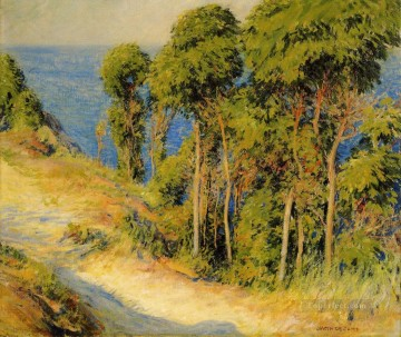 Woods Painting - Trees Along the Coast aka Road to the Sea landscape Joseph DeCamp woods forest