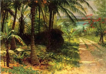 Woods Painting - Tropical Landscape Albert Bierstadt woods forest