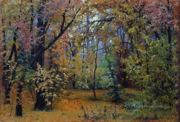 autumn forest 1876 classical landscape Ivan Ivanovich trees Oil Paintings