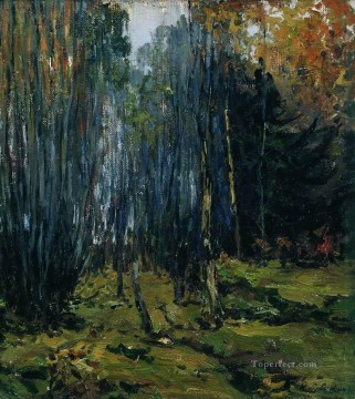 autumn forest 1899 Isaac Levitan woods trees landscape Oil Paintings