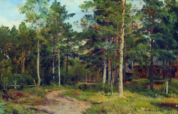 autumn landscape path in the forest 1894 Ivan Ivanovich trees Oil Paintings