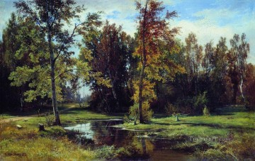 birch forest 1871 classical landscape Ivan Ivanovich trees Oil Paintings