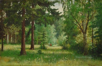 landscape Painting - children in the forest classical landscape Ivan Ivanovich trees