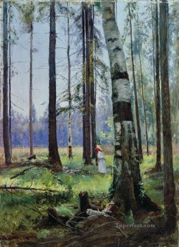edge of the forest 1 classical landscape Ivan Ivanovich trees Oil Paintings