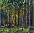 fir forest classical landscape Ivan Ivanovich trees