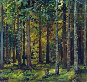 classical art - fir forest classical landscape Ivan Ivanovich trees