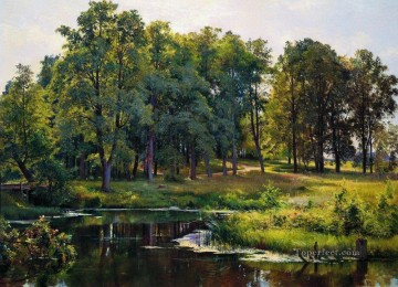 landscape Painting - in the park 1897 classical landscape Ivan Ivanovich trees