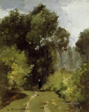 Woods Painting - in the woods 1864 Camille Pissarro