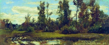 landscape Painting - lake in the forest classical landscape Ivan Ivanovich trees