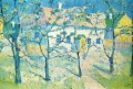 spring garden in blossom 1904 Kazimir Malevich trees