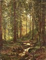 stream by a forest slope 1880 classical landscape Ivan Ivanovich trees