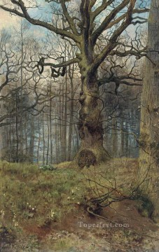 the spring wood John Collier woods landscape Oil Paintings