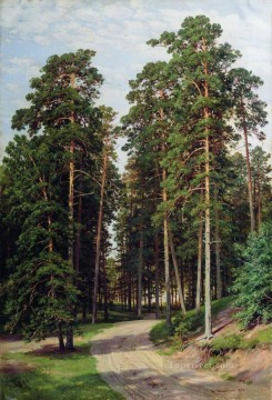 the sun in the forest 1895 classical landscape Ivan Ivanovich trees Oil Paintings