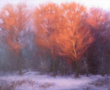Woods Painting - winter light