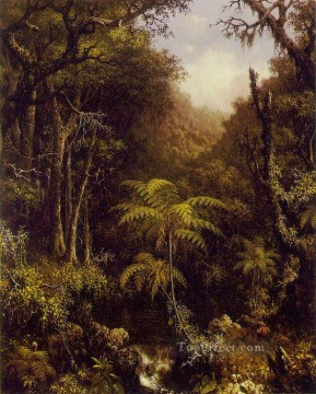 Woods Painting - Brazilian Forest ATC Romantic Martin Johnson Heade