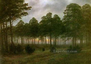Woods Painting - Evening HSE Romantic landscape Caspar David Friedrich woods forest