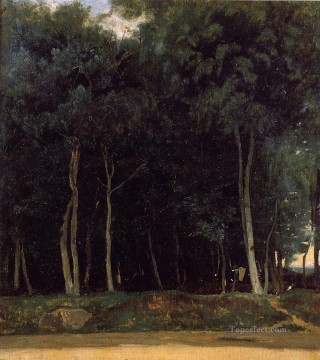 Woods Painting - Fontainebleau the Bas Breau Road Jean Baptiste Camille Corot woods forest