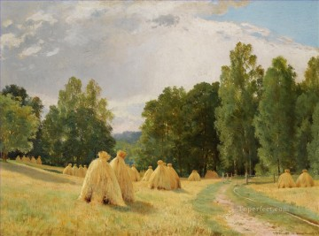 HAYSTACKS PREOBRAZHENSKOE classical landscape Ivan Ivanovich trees Oil Paintings
