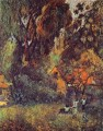 Huts under Trees Post Impressionism Primitivism Paul Gauguin woods forest