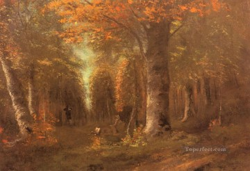 La Foret En Automne landscape Gustave Courbet woods forest Oil Paintings